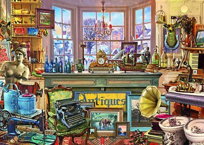 NEW! Falcon de luxe Alberts Antique Shoppe by Steve Crisp 1000 piece jigsaw