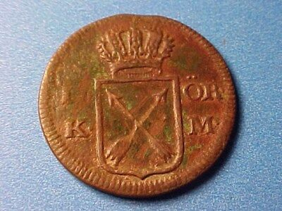 Sweden 1 Ore Copper 1769 Nice Detail For Issue