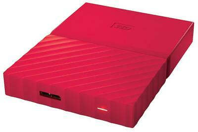 Wd - WDBYFT0020BRD-WESN - My Passport Usb 3.0 Portable Hard Drive, 2tb Red