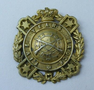Pre-Federation Victorian Military Forces Five Years Service Badge