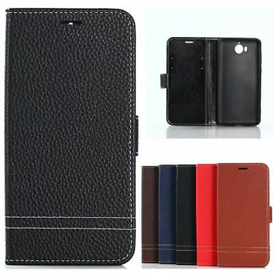 For Huawei Y5 2017/Y6 2017 Magnetic Flip Luxury Leather Wallet Case Stand Cover