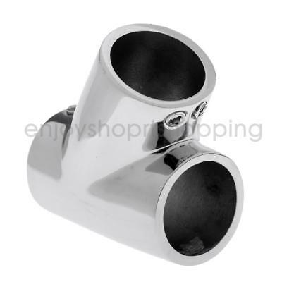 Boat Hand Rail Fitting - 316 Marine Stainless Steel 22mm 60 Degree Tee