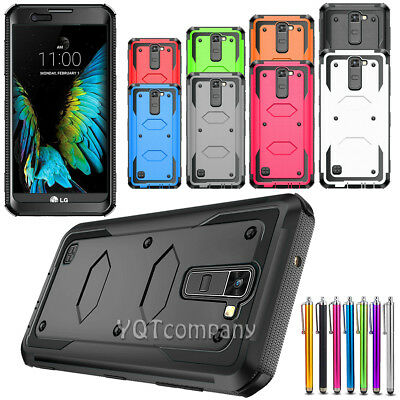 For LG Stylo 2 / LS775 Shockproof Impact Hybrid Armor Rubber Rugged Case Cover