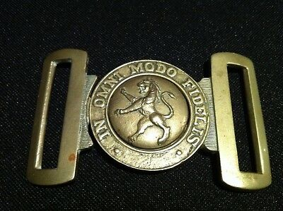 New South Wales Scottish Regiment Belt Buckle Stokes Melbourne in whitemetal