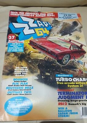 zzap 64 computer magazine August 1991. Issue 76