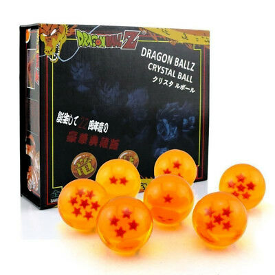 Dragon Balls Z Display Box Set 7pcs Crystal Stars Display 3.5cm 35mm Complete!