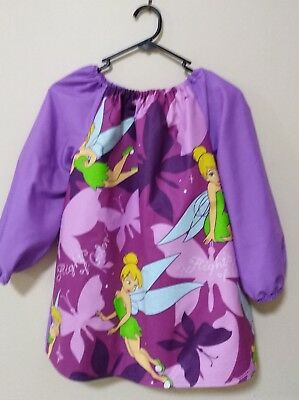 Kids Tinkerbell  Art Smock Girls  8-10 With Thermal Backing For Extra Protection