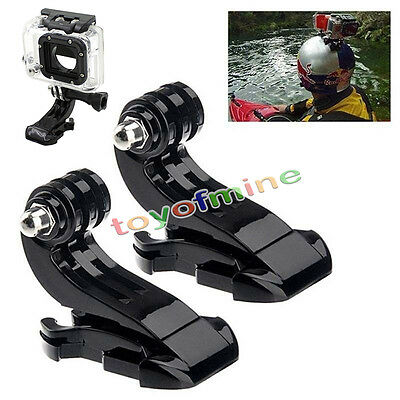 2X Excellent Vertical J-Hook Buckle Mount Adapter Holder For GoPro Hero 2 3 3+ 4