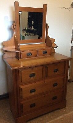 Gorgeous Antique Pine Dressing Table , Bought At Paddington Antique Market