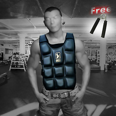 MMAWeighted Vest 12kg Jacket Running Training Crossfit Weights Loss Gym Exercise