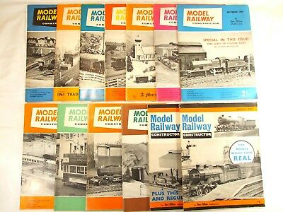 MODEL RAILWAY CONSTRUCTOR. Job Lot Of 13. 1960 & 1961.  See listing for details