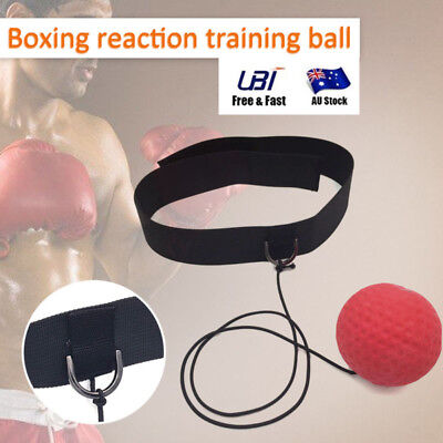 Gym Sports Boxing Fight Ball W/ Head Band For Reflex Speed Boxer Training Boxing