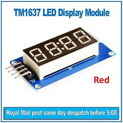 "4 digit 0.36"" Seven segment LED display module Red TM1637 Double points (clock)"