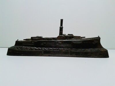 Rare WWI German SMS ROON Tin model of the battleship incomplete for restoration