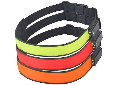 NEW High Visibility Reflective LED Runnng Cycling Battery Belt