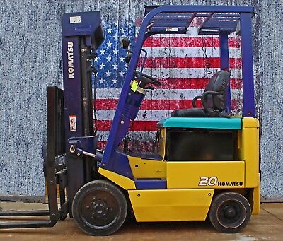 Komatsu FB20SH-5 4000lb Electric Forklift, Charger, and Reconditioned Battery
