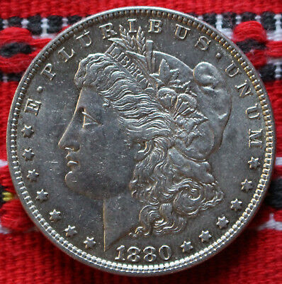 One Morgan Dollar USA 1880 O (New Orleans) Silver Dollar -2904-