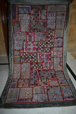 Boho hippie old fabric patch work Tapestry-curtain-wall hanging AU