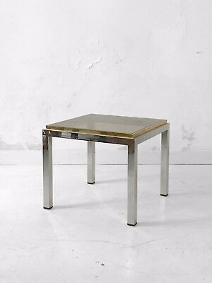 1970 Willy Rizzo Table Basse Moderniste Bauhaus Shabby-Chic Constructiviste