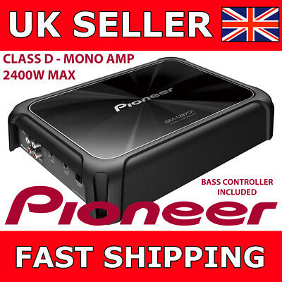 Pioneer GM-D9701 Mono 2400W Class-D Car Amp with Bass Boost Remote Controller