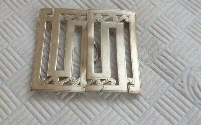 Stylish Antique  Art Deco Silver Plated Buckle