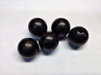 "700+ Nylon 1"" Balls Black Matte Spheres with Drilled Holes DIY Craft"