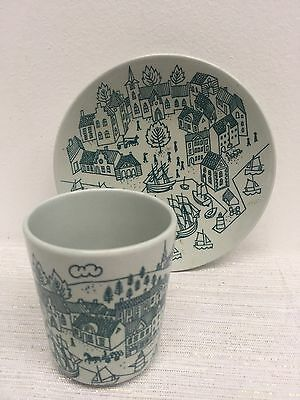 Nymolle Art Faience Danish Limited Edition Hoyrup Cup and Saucer