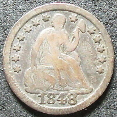 1848 Seated Liberty Half Dime Coin
