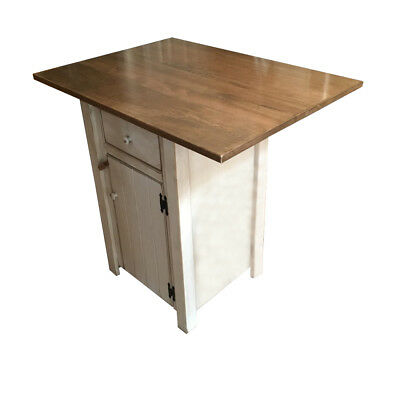 Small Primitive Country Kitchen Island - Counter Height - Amish Made in USA
