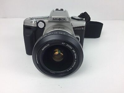 MINOLTA Maxxum 5 35mm Film Camera AF 28-80mm Zoom Lens #i-1183