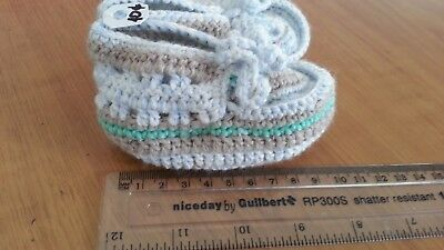 Handmade Woolen Crochet baby booties for cosy Christmas for new born