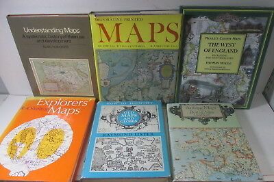 Maps themed book collection x 19 titles, history, topographical, art etc