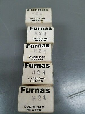 Furnas H24 Overload Heater ☆Lot Of 5☆  New Surplus Free Shipping☆