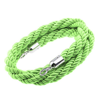 Barrier Post Queue Rope Twisted 2m Long - Green, NYLON WOVEN High Quality