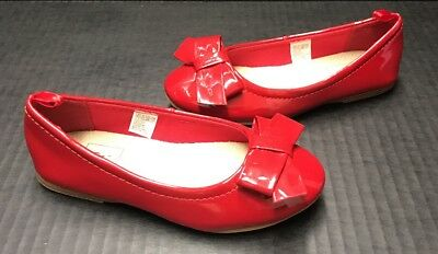 NWOT Girls 11 Gap Kids ALPINE CHILL Modern Red Patent Holiday Ballet Flats Shoes