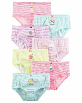 New Carter's 7 Pack Underwear Girls Panties NWT 2T 3T 4T 5T 6 6X 8 Days Stripes