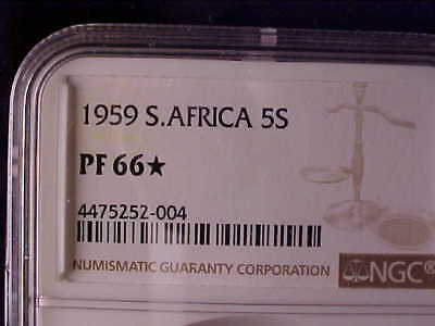South Africa Crown 1959 Ngc Proof 66 * Very Nice Quality For This Rare Date