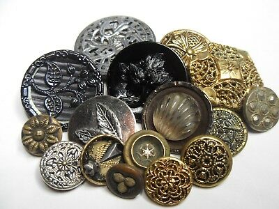 Victorian Antique Button Lot of Variety Designs...Large Button Lot
