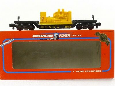 American Flyer Lionel CSX Flat Car With Generator 6-48513 S Gauge Model Trains