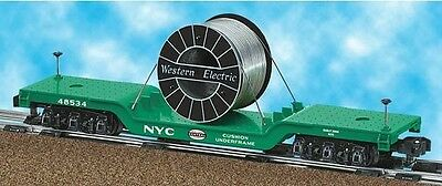 American Flyer Lionel New York Central Flat Car With Cable Load 6-48534 S Gauge