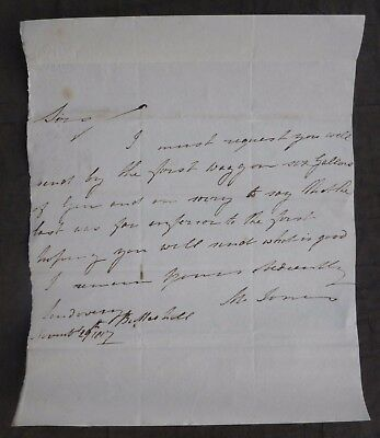 1817, Letter, Llandovery, Carmarthenshire, Wales, to - Hereford, William Pulling