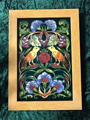 Moorcroft Large Birds Plaque! Nightingale Lullaby! First Quality! Superb! £595!