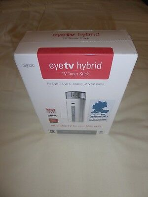 New Elgato Eyetvhybrid, Tv Tuner Stick For Dvb-T, Dvb-C, Analogue Tv & Fm Radio