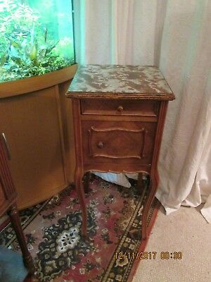 Antique French Louis XV style bedside table cabinet cupboard.
