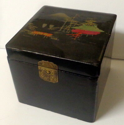 Antique Japanese Oriental Tea Caddy