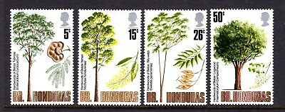 British Honduras 1971 Hardwood Trees Stamp Set