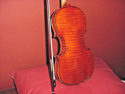 Antique  Violin  4/4  Ready To Play One Piece Tiger Maple Back