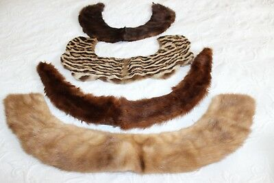 Vintage Fur Collar Four Collars In Collection 3 Mink And One (?)