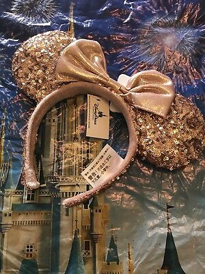 Disney World Rare Rose Gold Minnie Mouse Ears