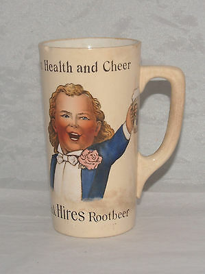 Antique Health Hires Root Beer Advertising Pottery Mug Mettlach Villeroy & Boch